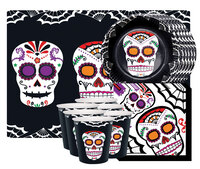 Kit vaisselle 6 personnes - Day of the Dead