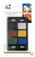 Fard gras - palette 6 coul. (1 gr) + 2 applicateurs